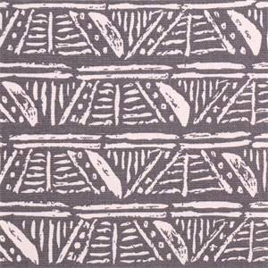 Leira Paramount Smoke Grey Geometric  Cotton Drapery Fabric by Swavelle Mill Creek Fabrics