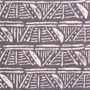 Leira Paramount Smoke Grey Geometric  Cotton Drapery Fabric by Swavelle Mill Creek Fabrics