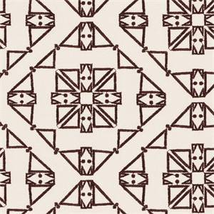 San Lucia Brown Embroidered Geometric By Swavelle