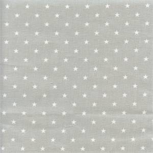 Mini Star French Grey Cotton Drapery Fabric by Premier Prints 30 yd Bolt
