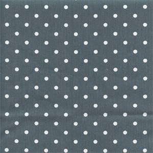 Mini Dot Gunmetal Grey White Twill Drapery Fabric by Premier Prints 30 yd Bolt