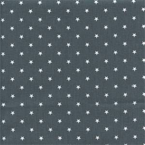 Mini Star Gunmetal Gray Cotton Drapery Fabric by Premier Prints 30 yd Bolt
