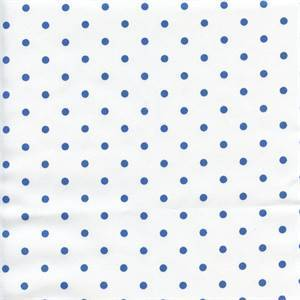 Mini Dot White Cobalt Twill Drapery Fabric by Premier Prints 30 Yard Bolt
