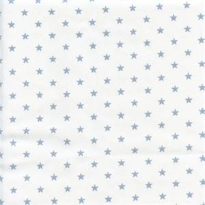 Mini Star White Weathered Blue Twill Cotton Drapery Fabric by Premier Prints 30 Yard Bolt