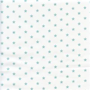 Mini Star White Canal Blue Twill Cotton Drapery Fabric by Premier Prints 30 Yd Bolt