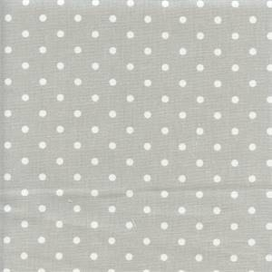 Mini Dot French Grey White Drapery Fabric by Premier Prints 30 yard Bolt