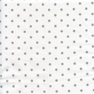 Mini Dot White Storm Twill Drapery Fabric by Premier Prints 30 Yard Bolt