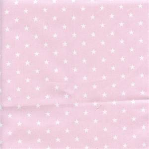 Mini Star Bella Pink White Twill Cotton Drapery Fabric by Premier Prints 30 Yard Bolt