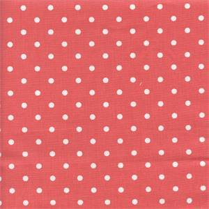 Mini Dot Coral Drapery Fabric by Premier Prints 30 Yard Bolt