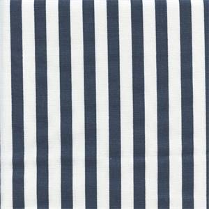 Basic Stripe Premier Navy Blue Cotton Drapery Fabric by Premier Prints 30 Yard Bolt