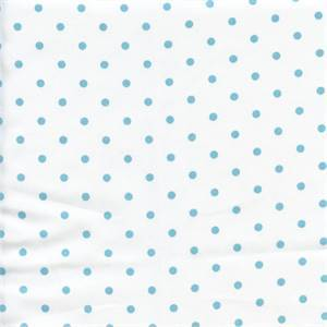 Mini Dot White Coastal Blue Twill Drapery Fabric by Premier Prints 30 Yard Bolt