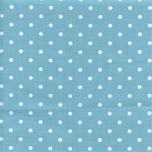 Mini Dot Coastal Blue Twill Drapery Fabric by Premier Prints 30 Yard Bolt