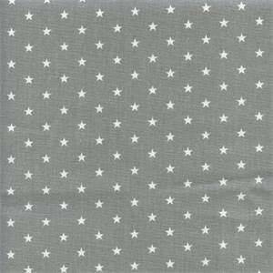 Mini Star Storm Gray Cotton Drapery Fabric by Premier Prints 30 Yard Bolt