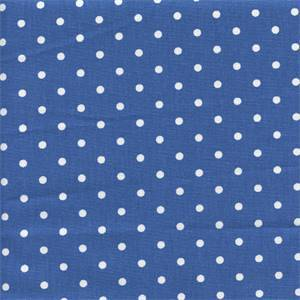 Mini Dot Cobalt White Drapery Fabric by Premier Prints 30 Yard Bolt