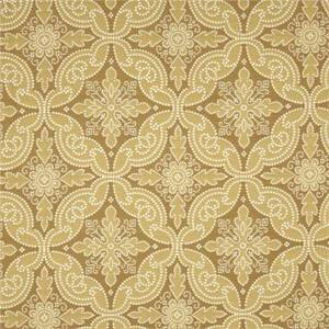 Pintado Wheat Gold Woven Floral Upholstery Fabric by P Kaufmann