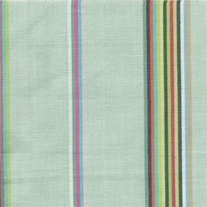 Young Seaspray Green Stripe Cotton Drapery Fabric by P Kaufmann