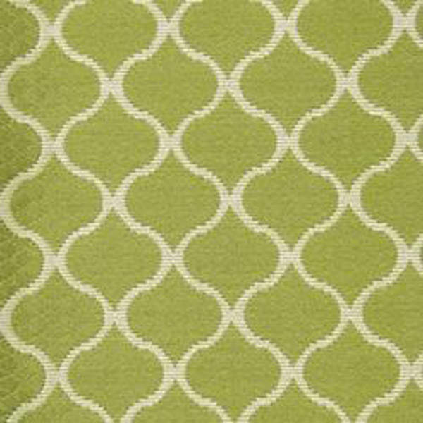 Oakley Lawn Green Geometric Quilted Look Woven Upholstery Fabric ...