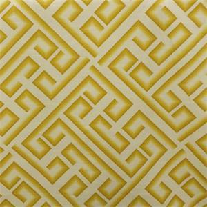 Kronos Maize Gold Cotton Geometric Drapery Fabric