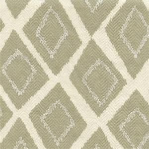 Belvoir Leaf Green Embroidered Diamond Heringbone Cotton Drapery fabric by Swavelle Mill Creek Fabrics