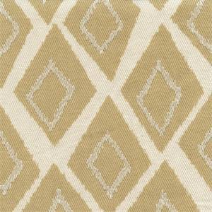 Belvoir Canary Yellow Diamond Embroidered Herringbone Cotton Drapery fabric by Swavelle Mill Creek Fabrics
