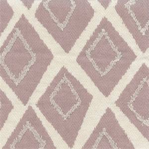 Belvoir Lilac Purple Embroidered Diamond Herringbone Cotton Drapery fabric by Swavelle Mill Creek Fabrics
