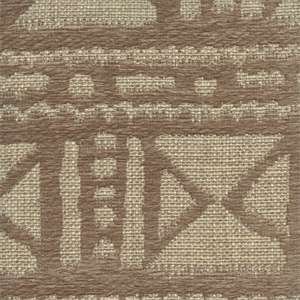 Mudcloth Linen Tan Chenille Jute African Design Upholstery Fabric By