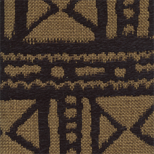 Mudcloth Black Jute Gold Chenille African Design Upholstery Fabric