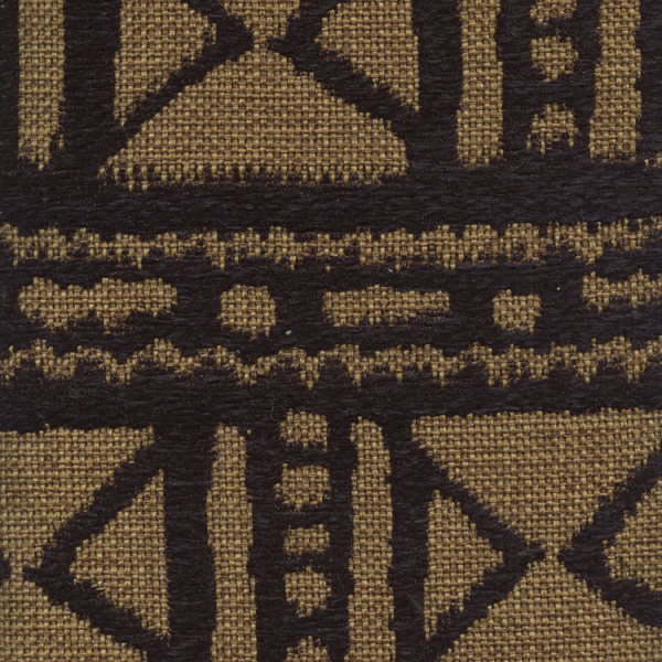 Mudcloth Black Jute Gold Chenille African Design