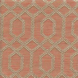 Parquet Apricot Pink Geometric Upholstery Fabric