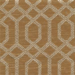 Parquet Nutmeg Brown Geometric Upholstery Fabric