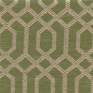 Parquet Peridot Green Geometric Tapestry Upholstery Fabric