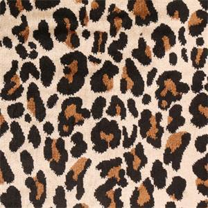 Sabor Onyx Black Animal Design Velvet Jacquard Upholstery Fabric
