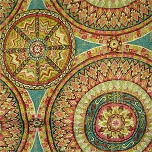 Funston Jane Suzani Medallion Embroidered Upholstery Fabric