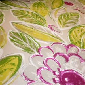 Back In The Day Tropical Purple Floral Cotton Drapery Fabric by PK Lifestyles Fabrics