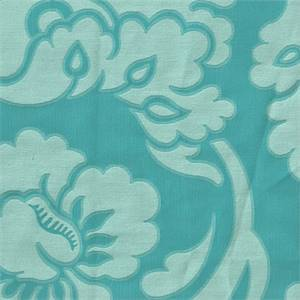 Pembrooke Peacock Blue Floral Drapery Fabric By PK Lifestyles