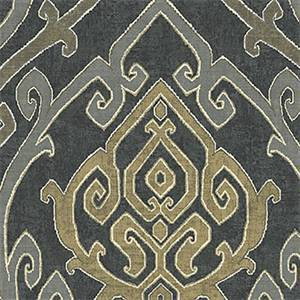 Zaya Charcoal Drapery Fabric by Belle Maison