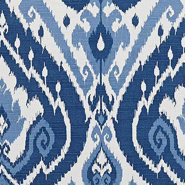 Lima Ultra Marine Drapery Fabric By Belle Maison