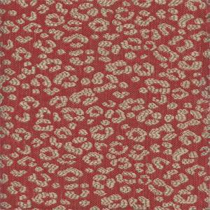 Simba Scarlet Animal Print Drapery Fabric