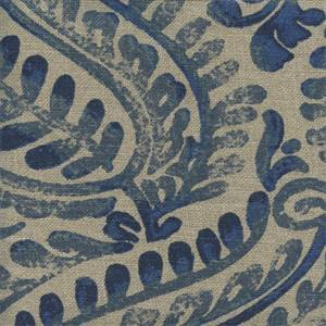 Melrose Sapphire Linen Drapery Fabric