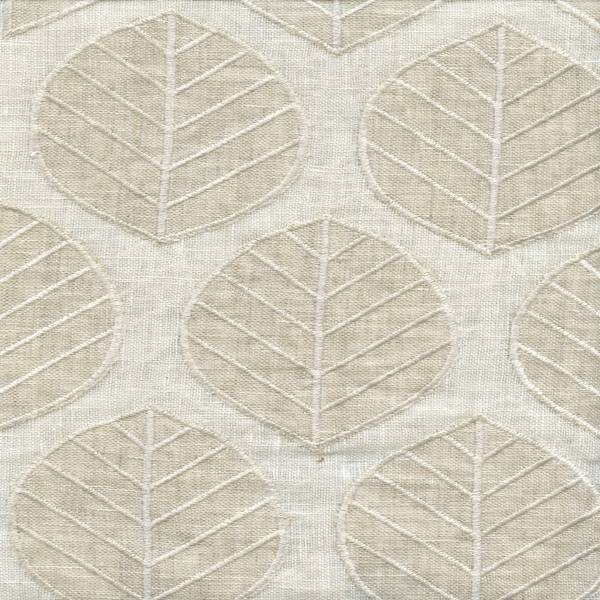 Laurel sand embroidered linen drapery fabric sw