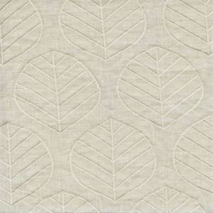 Laurel Shell Embroidered Linen Drapery Fabric