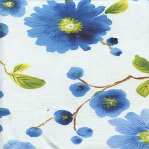 Newberry Sapphire Cotton Drapery Fabric