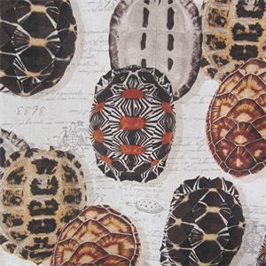 Tortugas # 1 Tortoise Shell Drapery Fabric