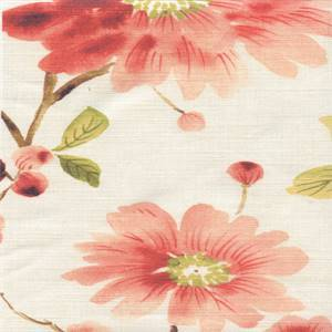 Newberry Mango Cotton Drapery Fabric