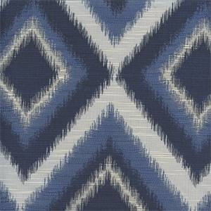 Rio Indigo Drapery Fabric