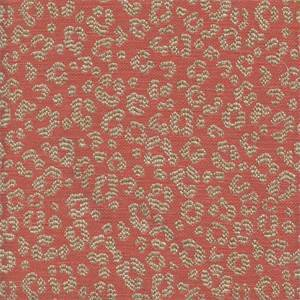 Simba Melon Animal Print Drapery Fabric