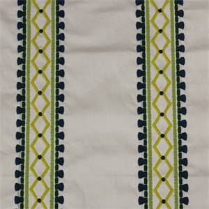 Viva Acapulco Palm Embroidered Drapery Fabric