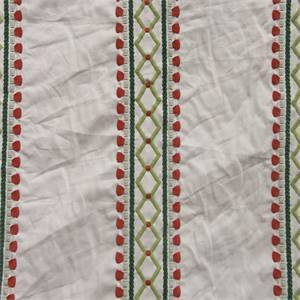 Viva Acapulco Rhubarb Embroidered Drapery Fabric