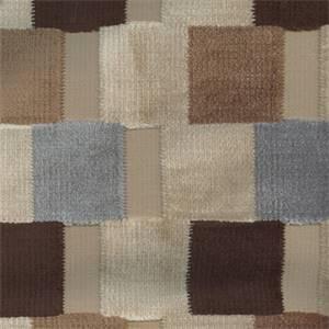 Colorbands Havana Velvet Upholstery by Braemore Fabrics
