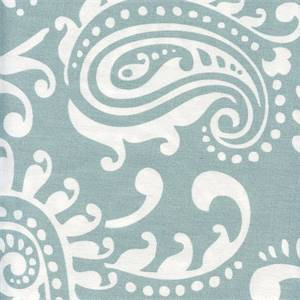 Walker Spa Blue White Floral Drapery Fabric by Premier Prints 30 Yard Bolt